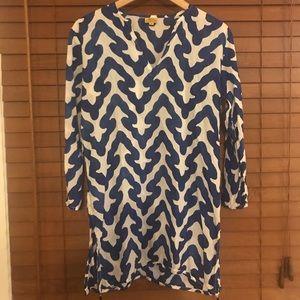 Roberta Roller Rabbit Blue and White Cotton Tunic